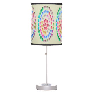 Modern colorful table lamp