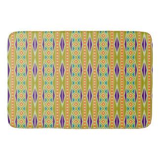 Modern Colorful Trendy Tribal Aztec Geo Pattern Bathroom Mat