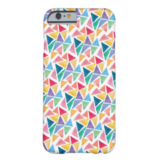 Modern Colorful Triangle Barely There iPhone 6 Case