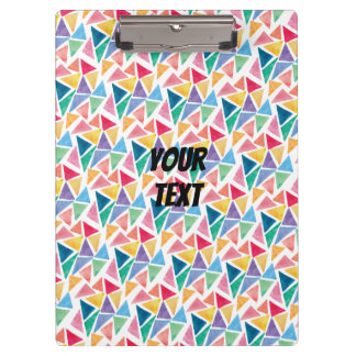 Modern Colorful Triangle Clipboard