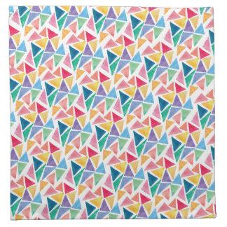 Modern Colorful Triangle Napkin