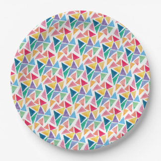 Modern Colorful Triangle Plate
