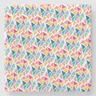 Modern Colorful Triangle Stone Coaster