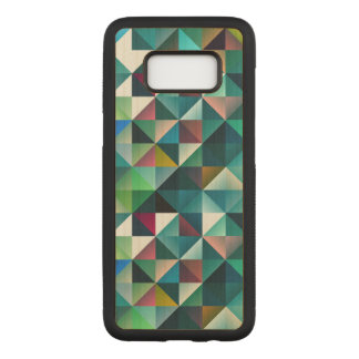 Modern Colorful Triangles Geometric Design Carved Samsung Galaxy S8 Case