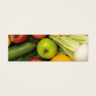Modern Colorful Vegetables Grocery Nutritionist Mini Business Card