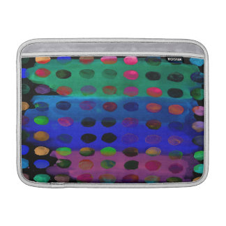 Modern Colorful Watercolor Spots and Stripes Sleeve For MacBook Air