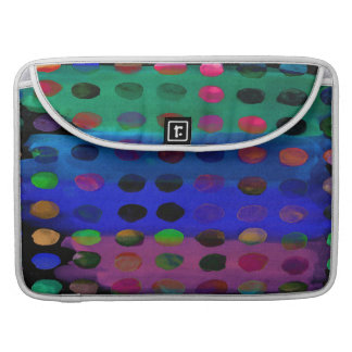 Modern Colorful Watercolor Spots and Stripes Sleeve For MacBooks