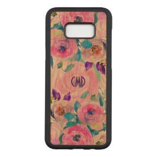 Modern Colorful Watercolors Flowers Collage Carved Samsung Galaxy S8+ Case