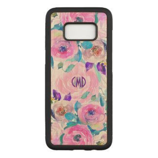 Modern Colorful Watercolors Flowers Collage GR3 Carved Samsung Galaxy S8 Case
