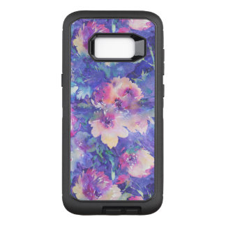 Modern Colorful Watercolors Flowers Pattern OtterBox Defender Samsung Galaxy S8+ Case