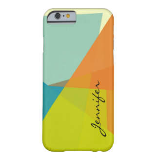Modern Colors Mosaic Geometric Pattern Barely There iPhone 6 Case