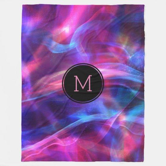 Modern Colourful Bokeh Light & Sparkles Fleece Blanket