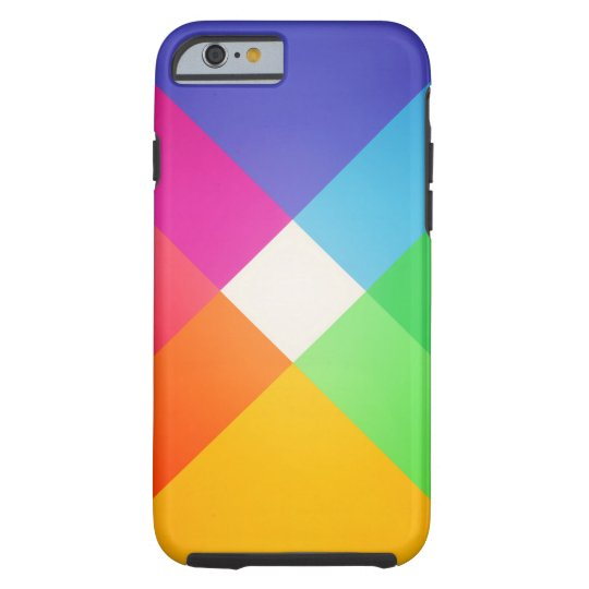 Modern Colourful Geometric Abstract Pattern Tough iPhone 6 Case