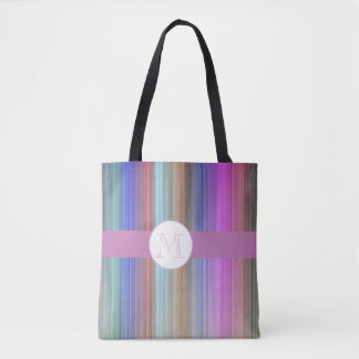 Modern colourful stripe tote bag