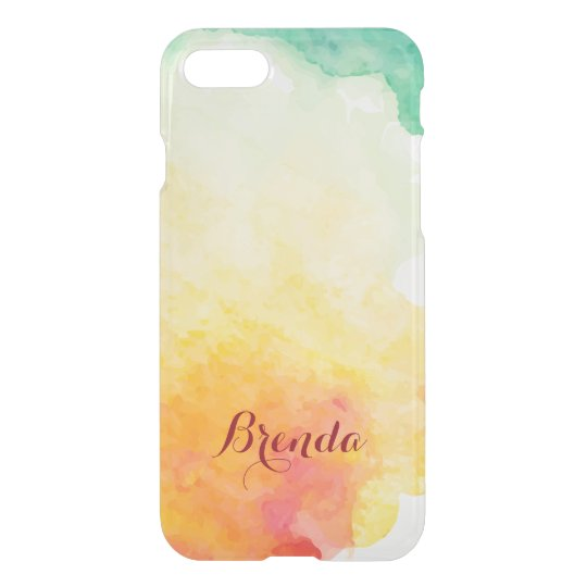 Modern Colourful Watercolors Background iPhone 7 Case
