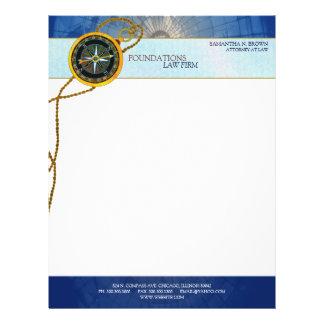 Modern Compass Legal Business Letterhead