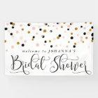 Modern Confetti Dots Bridal Shower Banner