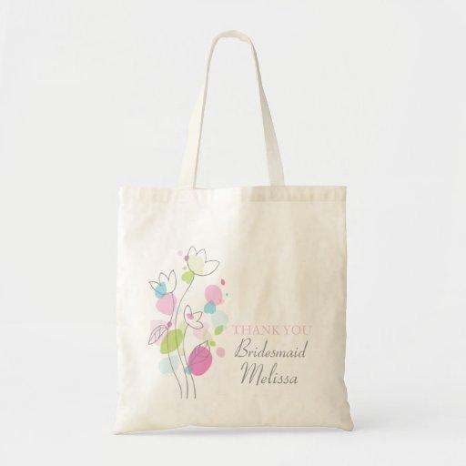 Modern confetti flower wedding bridesmaid bag