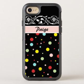 Modern Confetti Polka Dots OtterBox Symmetry iPhone 7 Case