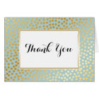 Modern Confetti Polka Dots Pattern Mint and Gold Card