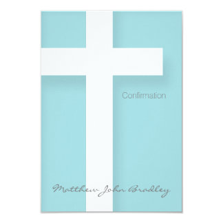 "Modern Confirmation Invitation Choose your Color 2 3.5"" X 5"" Invitation Card"