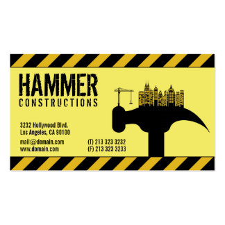 Modern Construction Builder Contractor Pack Of Standard Business Cards