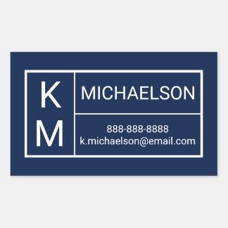 Modern | Contact Information Sticker