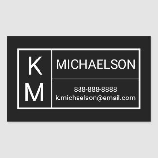 Modern | Contact Information Sticker