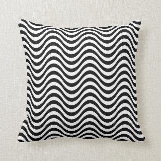 Modern Contemporary Black Zig Zag Pattern Throw Pillow