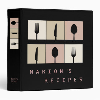 Modern Contemporary Cooking Recipe Book Binder