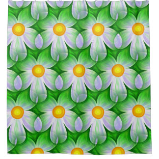 Modern Contemporary Daisy Pattern