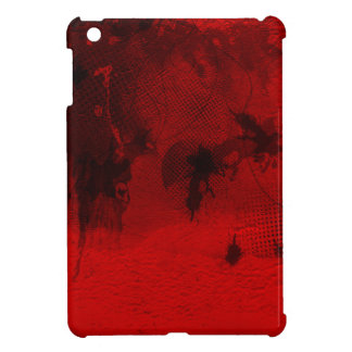 Modern contemporary Red Abstract Texture Art Case For The iPad Mini