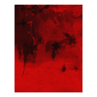 Modern contemporary Red Abstract Texture Art Letterhead