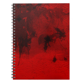Modern contemporary Red Abstract Texture Art Notebook