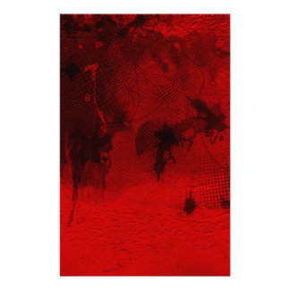 Modern contemporary Red Abstract Texture Art Stationery