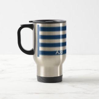 Modern Contemporary Stripes Travel Travel Mug