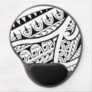 modern contemporary tattoo design Polynesia tribe Gel Mouse Mat