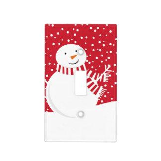 modern contemporary winter snowman light switch cover