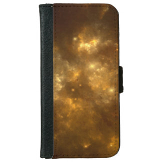 Modern Cool Beautiful Gold Nebula, Stars & Space - iPhone 6 Wallet Case