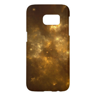 Modern Cool Beautiful Gold Nebula, Stars & Space - Samsung Galaxy S7 Case