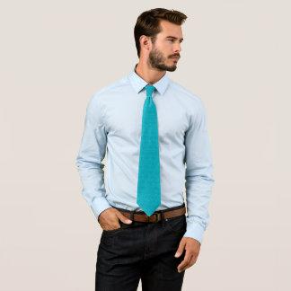 Modern Cool Blue Pasmore Ripple Pattern Woven Tie
