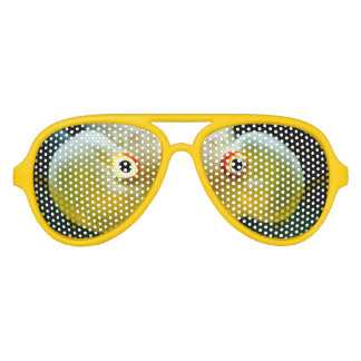 modern cool nerdy crazy goldfish eyes aviator sunglasses
