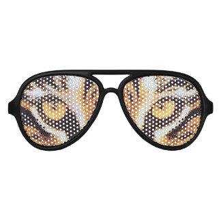 modern cool nerdy funny tiger eyes aviator sunglasses