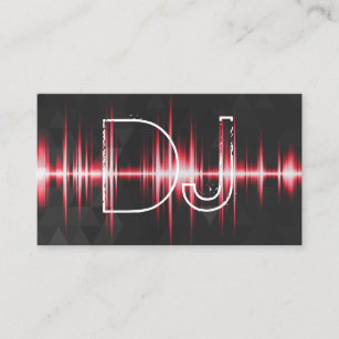 Cool dj business cards profile cards zazzle ca modern cool professional dj business card colourmoves