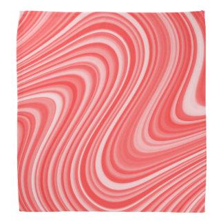 Modern Cool Red/Blue White Grey Curvy Line Pattern Bandana