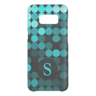 Modern Cool Unique Turquoise Dots Pattern Monogram Uncommon Samsung Galaxy S8 Case