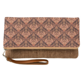 Modern Copper Colored Pattern 034 Clutch