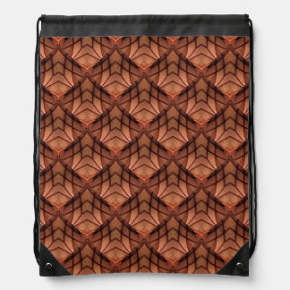 Modern Copper Colored Pattern 034 Drawstring Bag