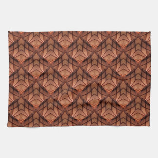 Modern Copper Colored Pattern 034 Hand Towels