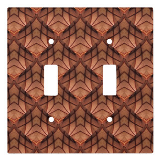 Modern Copper Colored Pattern 034 Light Switch Cover